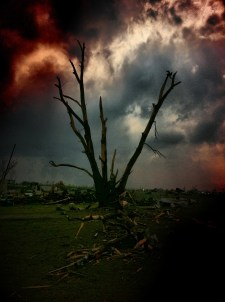 Angry skies over Joplin disaster area