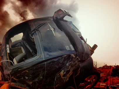 Vehicle destroyed in Joplin tornado