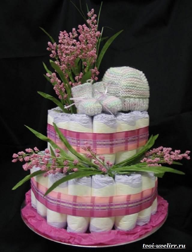 Торт-из-памперсов-Торт-из-памперсов-своими-руками-3