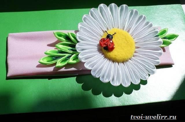 Цветы-из-лент-Как-сделать-цветы-из-лент-своими-руками-15