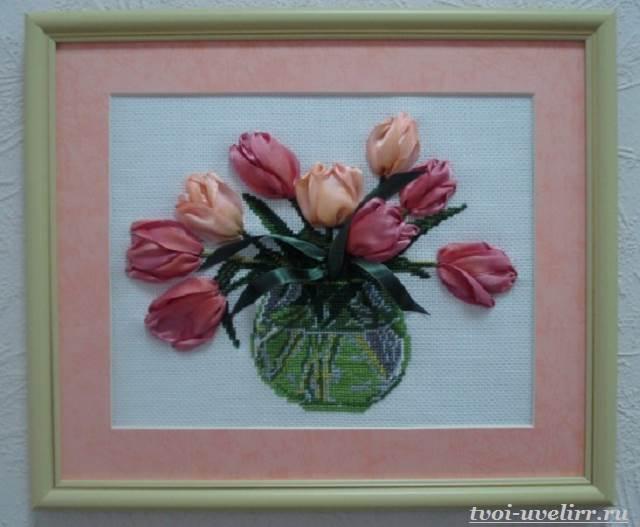 Цветы-из-лент-Как-сделать-цветы-из-лент-своими-руками-6