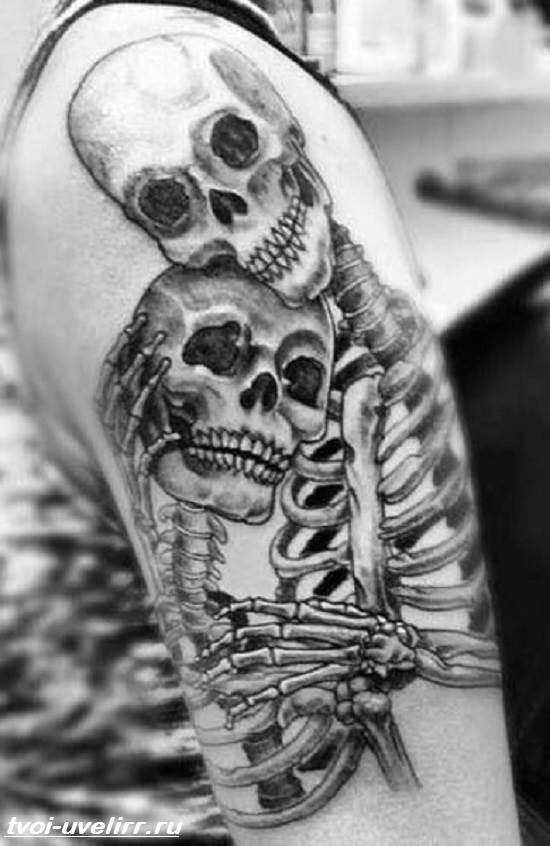 Тату-скелет-Значение-тату-скелет-Эскизы-и-фото-тату-скелет-2
