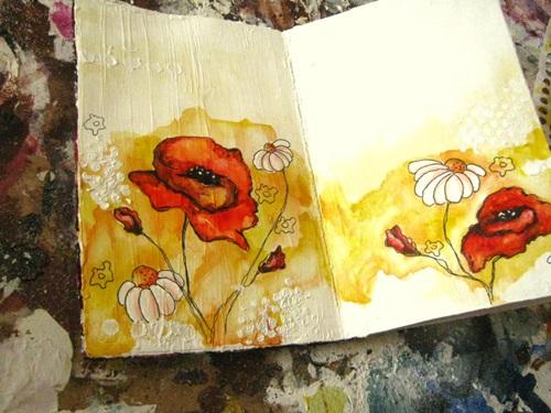 Открытка красками для мамы, открытки отпуск прикольные