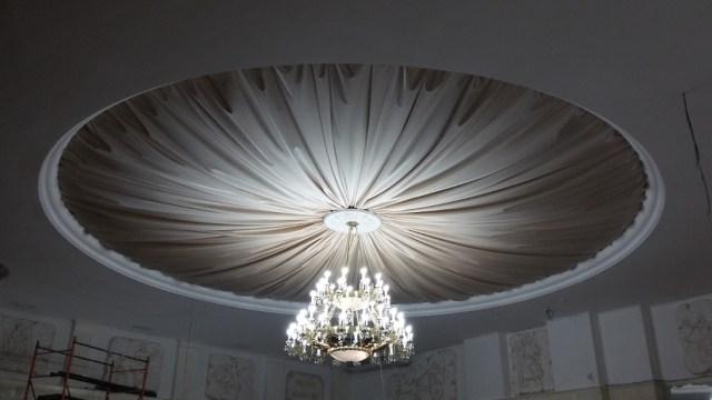 Потолок из ткани, габелен