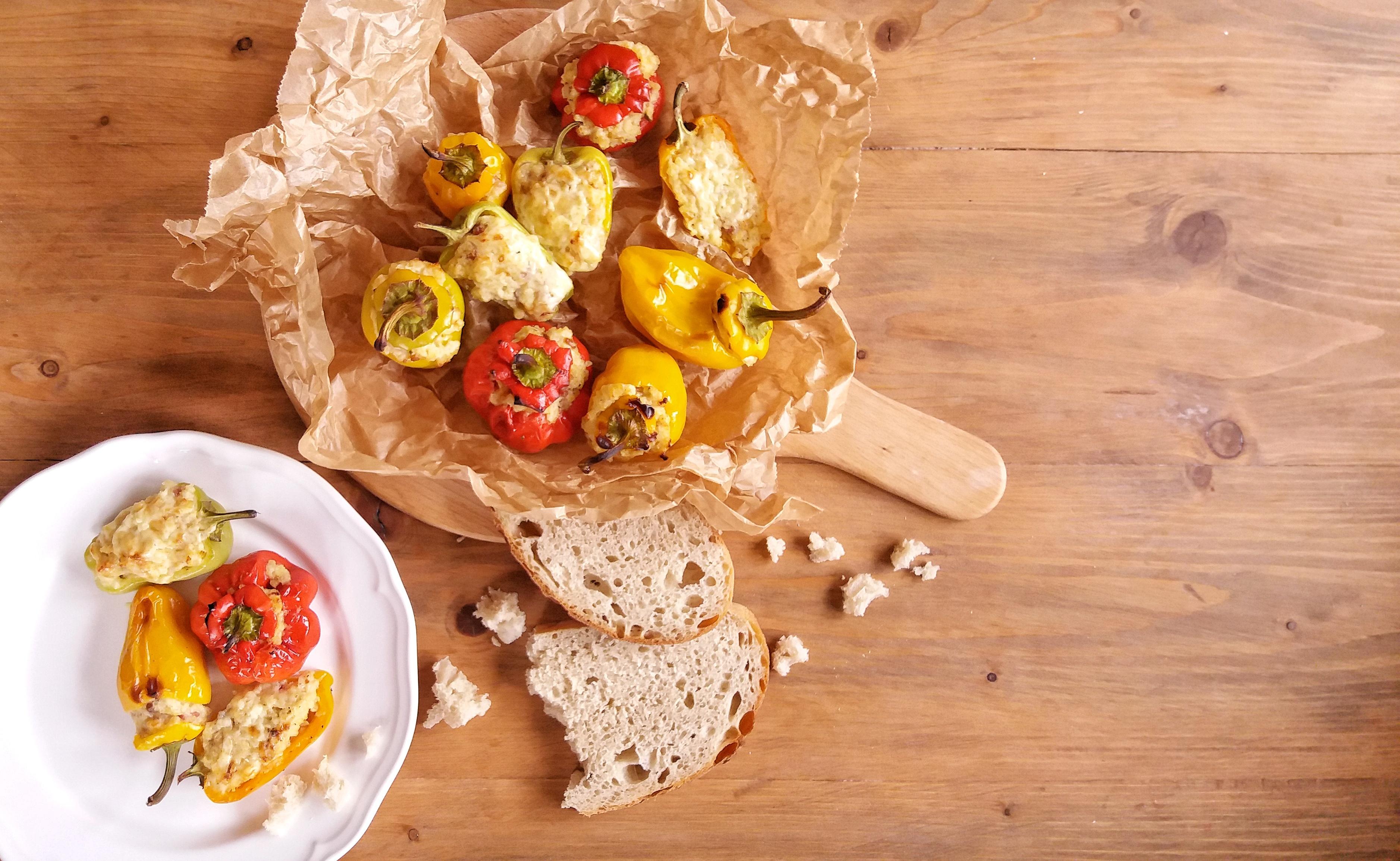 Pečené mini papričky s jáhlami