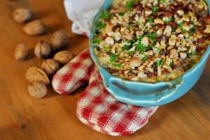 Celerový gratin s ořechy