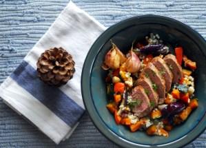 Salát s pečenou dýní & čirokem