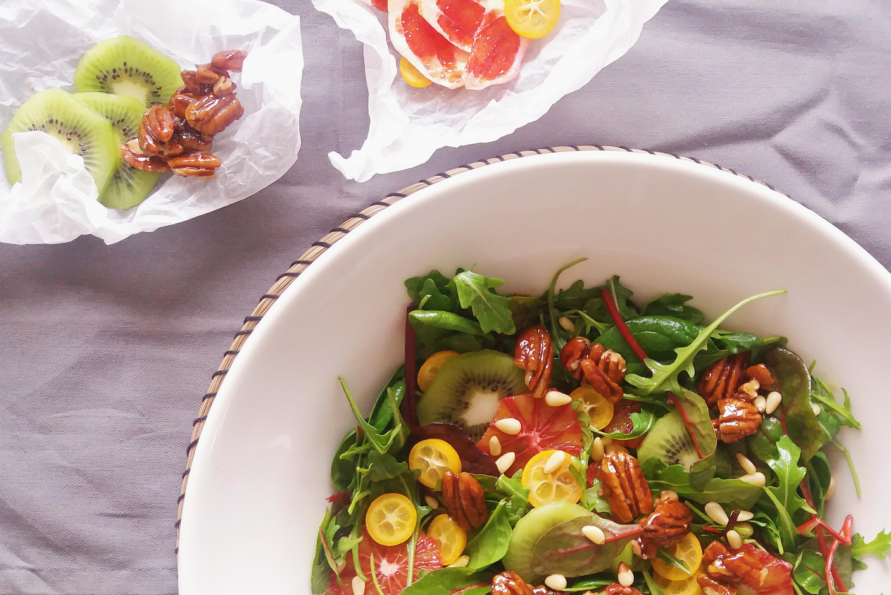 Salát s citrusy