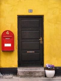 Yellow house in Roskilde, Denmark