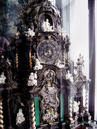 Clock in Rosenborg Castle, Copenhagen