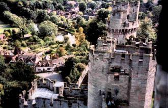 A view outside Warwick Castle walls