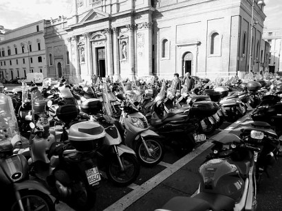 Rome where scooters rule the roads!