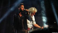 Adam Lambert and Brian May. Queen, Montreal, July 2014