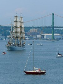 Parade of Sail and the McDonald bridge