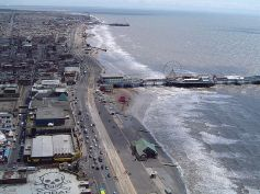 view from the Blackpool Tower