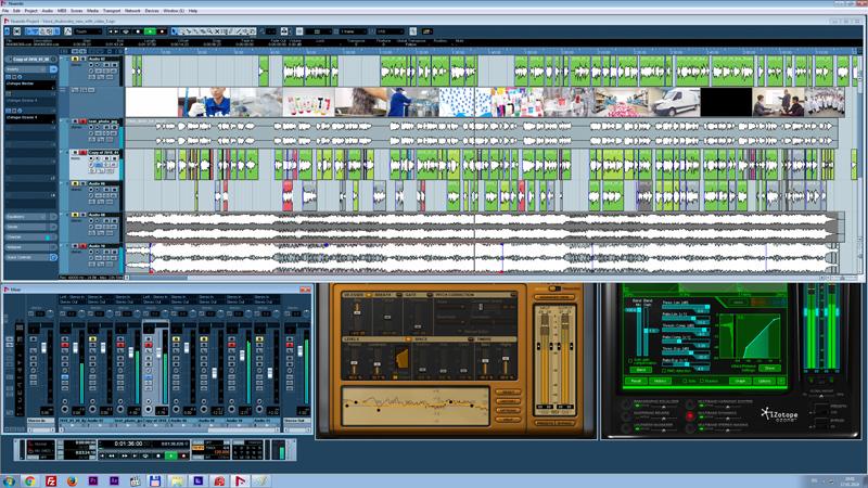 Обработка звука для корпоративного фильма в программе Nuendo