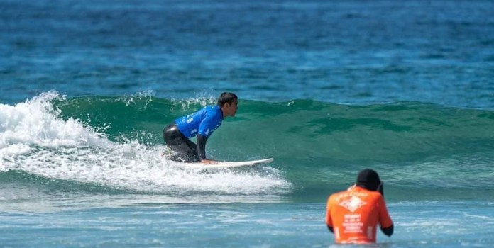 Martín Díaz obtains 5th place in the adapted World Surfing Championship