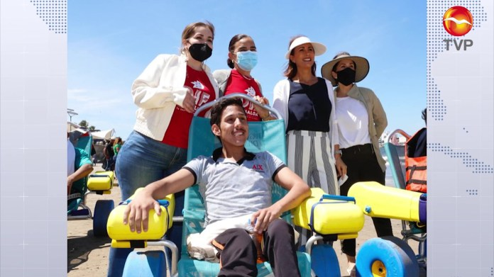 Successful inclusive beach program in Mazatlán