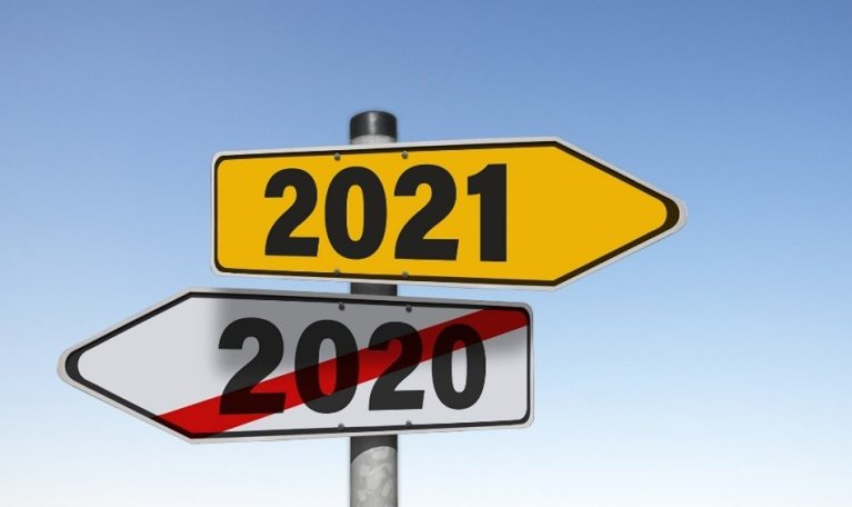 arrows pointing to 2021