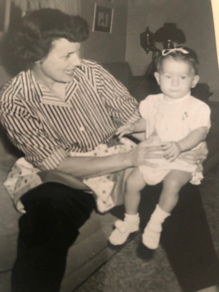 toddler Heidi with her mom