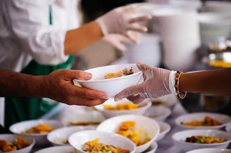 serving hands