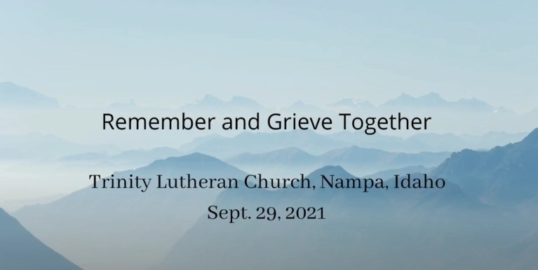 remember and grieve together