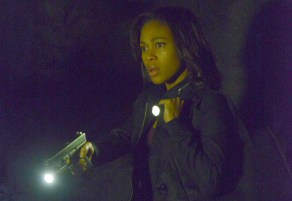 Abbie investigates a cavern on the What Lies Beneath episode of Sleepy Hollow