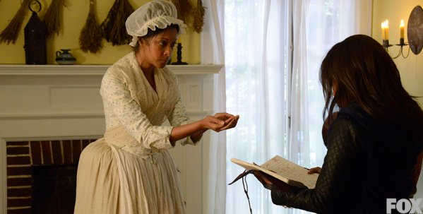 """When Abbie travels back in time to 1781 to save Ichabod's life, she gets to meet her ancestor Grace Dixon, who perform a reversal spell in the S2 season finale """"Tempus"""