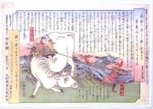 種痘の効果を表現した錦絵 [中村教材資料文庫所蔵]
