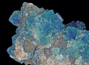 Fluorite, galène crystals