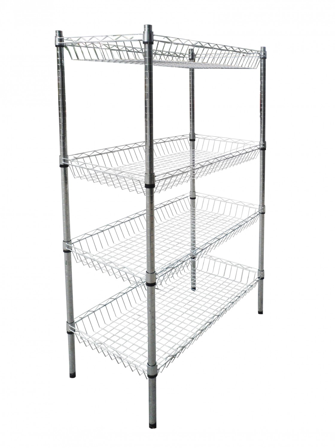 Buy Optional Layer Height Wire Mesh Shelving Commercial