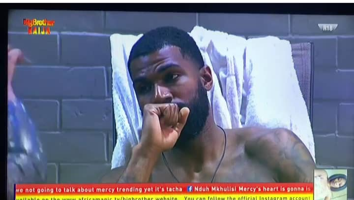 BBNaija 2019 Day 24: Tacha in tears after returning to Big Brother House