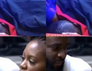 BBNaija 2019: Khafi and Gedoni caught making love again (Video)