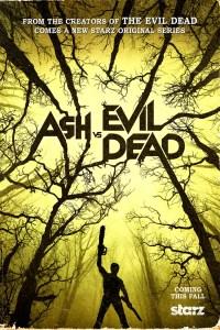 "The ""ash vs Evil Dead"" key art from Starz."