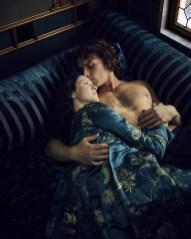 "Claire Fraser (Caitriona Balfe) and Jamie Fraser (Sam Heughan) in ""Outlander."" (Starz)"