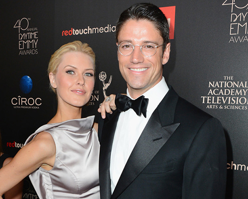 Model Kaitlin Robinson and actor James Scott attend The 40th Annual Daytime Emmy Awards at The Beverly Hilton Hotel on June 16, 2013 in Beverly Hills, California. Photo Credit: Mark Davis/Getty Images North America)
