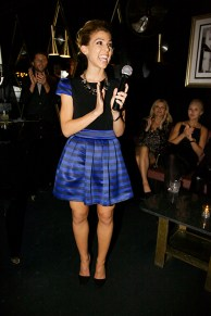 Kate Mansi toasts during her K2O party and benefit. | Photo Credit: Courtney Berman