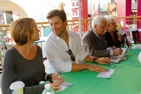 """DAYS OF OUR LIVES -- """"Universal Fan Event"""" -- Pictured: (l-r) Arianne Zucker, Greg Vaughan, Bill Hayes, Susan Seaforth Hayes -- (Photo by: Vivian Zink/NBC)"""