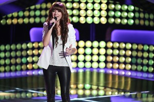 """THE VOICE -- """"Blind Auditions"""" Episode 601 -- Pictured: Christina Grimmie -- (Photo by: Tyler Golden/NBC)"""