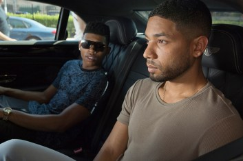 EMPIRE: Pictured L-R: Bryshere Gray as Hakeem Lyon and Jussie Smollett as Jamal Lyon in the 'Without A Country' episode of EMPIRE airing Wednesday, Sept. 30 (9:00-10:00 PM ET/PT) on FOX. ©2015 Fox Broadcasting Co. Cr: Chuck Hodes/FOX.