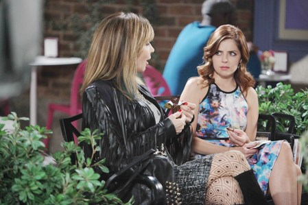 Kate (Lauren Koslow) and Theresa (Jen Lilley) plan to re-establish Basic Black as a fashion powerhouse. Photo Credit: © Howard Wise/jpistudios.com. U.S.Airdate 09/10/15
