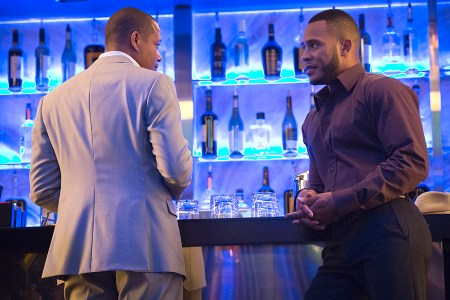 "EMPIRE: Pictured L-R: Terrence Howard as Lucious Lyon and Trai Byers as Andre Lyon in the ""Poor Yorick"" episode of EMPIRE airing Wednesday, Oct. 14 (9:00-10:00 PM ET/PT) on FOX. ©2015 Fox Broadcasting Co. Cr: Chuck Hodes/FOX."
