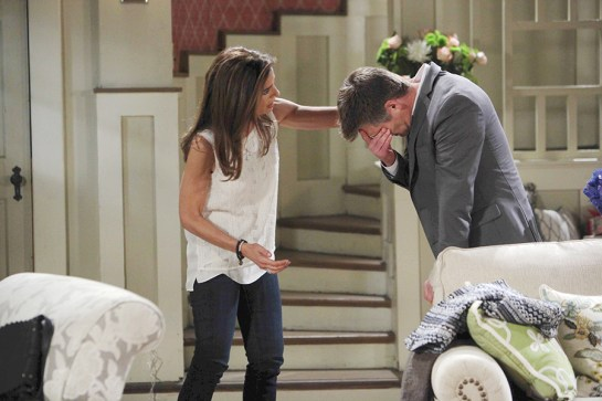 "Kristian Alfonso, Daniel Cosgrove ""Days of our Lives"" Set NBC Studios Burbank 05/14/15 © sean smith/jpistudios.com 310-657-9661 Episode # 12705 U.S.Airdate 10/27/15"