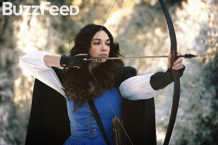Crystal Reed as Argent family ancestor Marie-Jeanne Valet. Photo courtesy BuzzFeed/MTV.