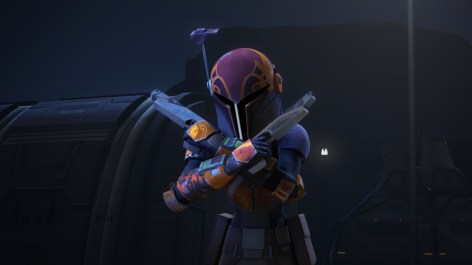 """STAR WARS REBELS - """"The Protector of Concord Dawn"""" - The rebels are in need of new hyperspace routes as the Empire closes in. The rebel crew finds a new shortcut, but they must gain permission from the leader of Concord Dawn to use it. This episode of """"Star Wars Rebels"""" airs Wednesday, January 27 (9:00 PM - 9:30 PM ET/PT) on Disney XD. (Lucasfilm) SABINE"""