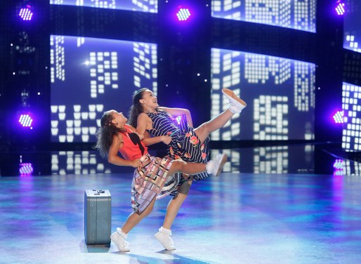 """SO YOU THINK YOU CAN DANCE: Top 6 contestants Ruby Castro (R) and Tahani Anderson (L) perform a Broadway routine to """"Stand By Me"""" choreographed by Al Blackstone on SO YOU THINK YOU CAN DANCE airing Monday, August 22 (8:00-10:00 PM ET live/PT tape-delayed) on FOX. ©2016 FOX Broadcasting Co. Cr: Adam Rose"""