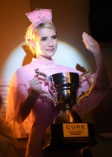 """SCREAM QUEENS: Emma Roberts in the all-new """"Blood Drive"""" episode of SCREAM QUEENS airing Tuesday, Nov. 15 (9:01-10:00 PM ET/PT) on FOX. Cr: Michael Becker / FOX. © 2016 FOX Broadcasting Co."""