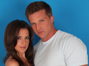 Kelly Monaco and Steve Burton