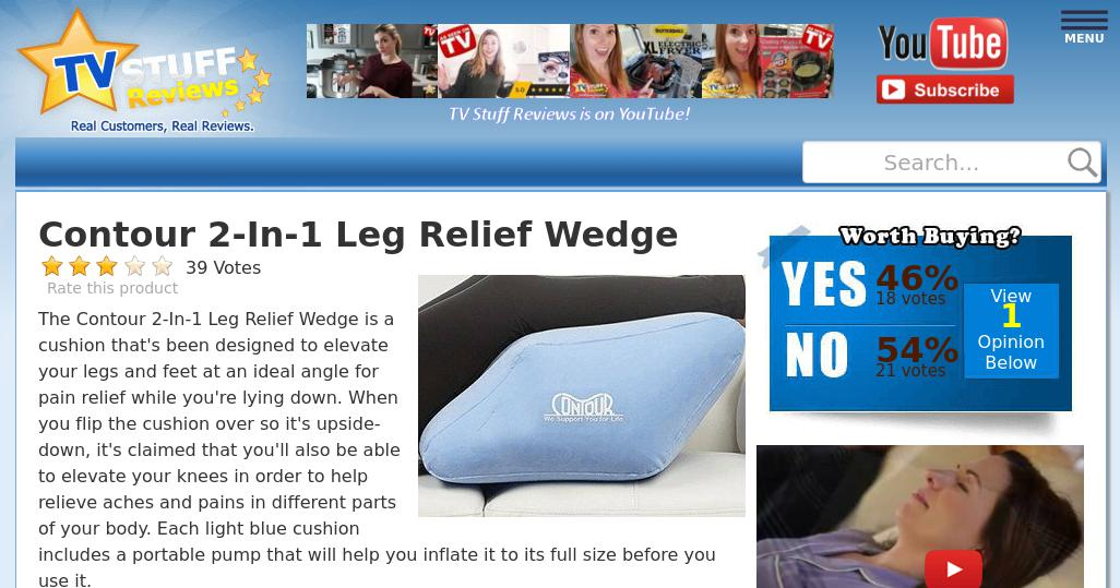contour 2 in 1 leg relief wedge reviews