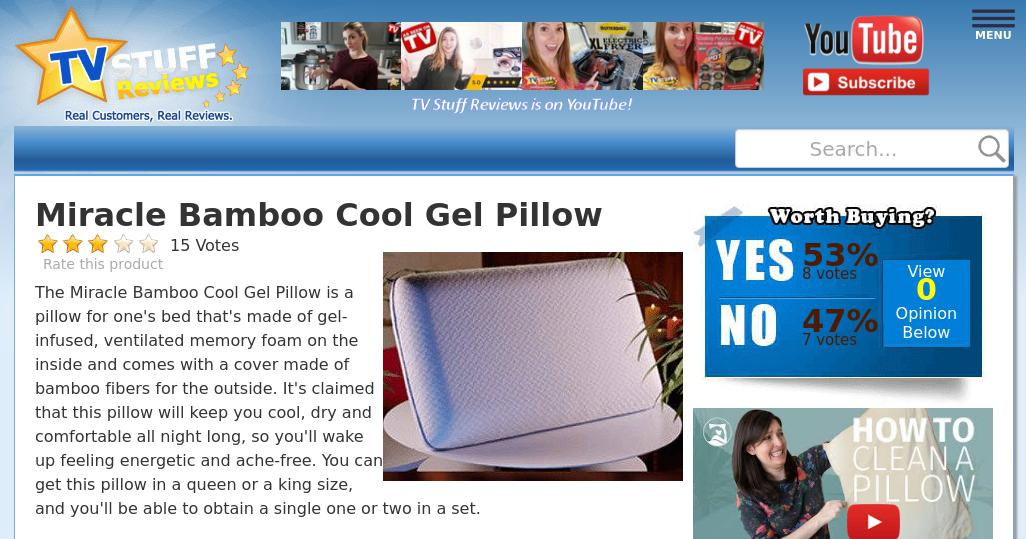 miracle bamboo cool gel pillow reviews